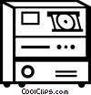 Vector Clipart picture  of a computer