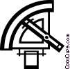 Vector Clipart picture  of a sextant