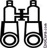 Vector Clip Art graphic  of a binoculars