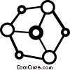 Vector Clip Art picture  of an atoms