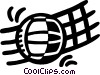 volleyball and net Vector Clipart picture