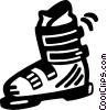 Vector Clip Art graphic  of a ski boot
