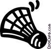 Badminton birdie Vector Clip Art picture