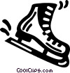 Vector Clip Art picture  of a skate