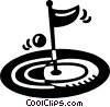 Vector Clipart graphic  of a golf green