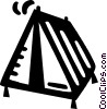Vector Clip Art picture  of a tent