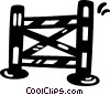 Vector Clipart image  of a equestrian hurdle