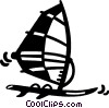 windsurfer Vector Clipart picture