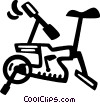 Vector Clip Art picture  of a stationary bike