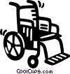 Vector Clipart image  of a wheelchair