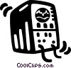 ecg monitor Vector Clipart graphic