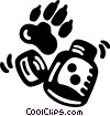 Vector Clip Art graphic  of a footprints