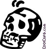Vector Clip Art picture  of a human skull