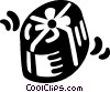 Vector Clip Art image  of a gift