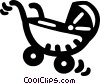baby carriage Vector Clip Art picture