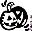 Vector Clipart illustration  of a jack o lantern