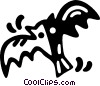 Vector Clip Art image  of a bat