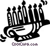 menorahs Vector Clip Art picture