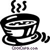 bowl of soup Vector Clip Art graphic