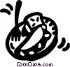 Vector Clip Art image  of a eggs