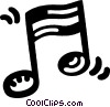 musical notation Vector Clip Art picture