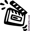 Vector Clipart illustration  of a clapper board