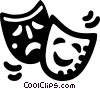 Vector Clip Art picture  of a drama masks