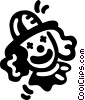 Funny clown Vector Clipart graphic