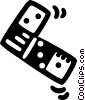 Vector Clip Art picture  of a domino