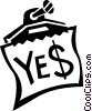 Vector Clip Art graphic  of a yes sign