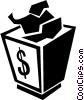 money box Vector Clipart picture