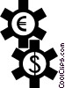 Vector Clip Art graphic  of a financial concept