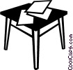 Vector Clipart image  of a desk