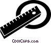 Vector Clipart illustration  of a ruler