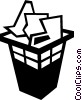 garbage can Vector Clipart illustration