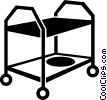 Vector Clip Art graphic  of a cart