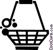 shopping basket Vector Clipart illustration