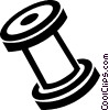 Vector Clip Art image  of a thread