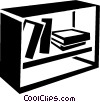 Vector Clip Art graphic  of a bookshelves