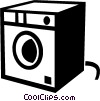 Vector Clipart graphic  of a clothes dryer