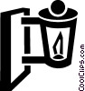 Vector Clip Art image  of a outdoor lamp