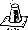 Vector Clip Art image  of a salt shaker