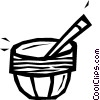 mortar and pestle Vector Clipart image