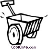 wheelbarrow Vector Clipart graphic