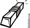 Vector Clip Art picture  of a eraser