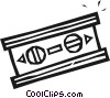 Vector Clip Art graphic  of a Carpenter's Level