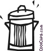 Vector Clipart picture  of a Garbage can