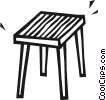 Vector Clip Art image  of a End table