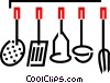 Kitchen utensil set Vector Clipart image