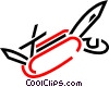 Vector Clipart graphic  of an Army knife